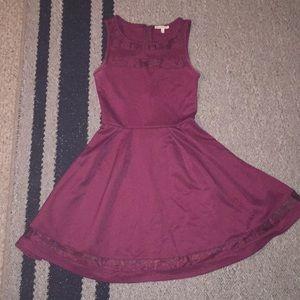 Garnet Dress with Mesh